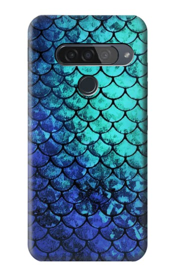 Printed Green Mermaid Fish Scale LG G8S ThinQ Case