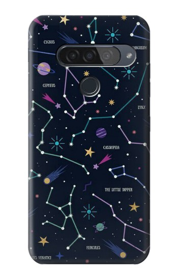 Printed Star Map Zodiac Constellations LG G8S ThinQ Case