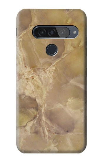 Printed Yellow Marble Stone LG G8S ThinQ Case