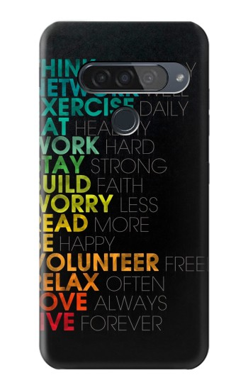 Printed Think Positive Words Quotes LG G8S ThinQ Case