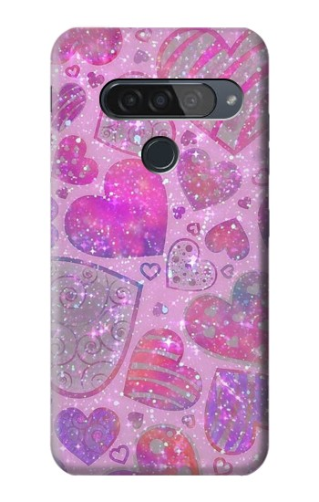 Printed Pink Love Heart LG G8S ThinQ Case