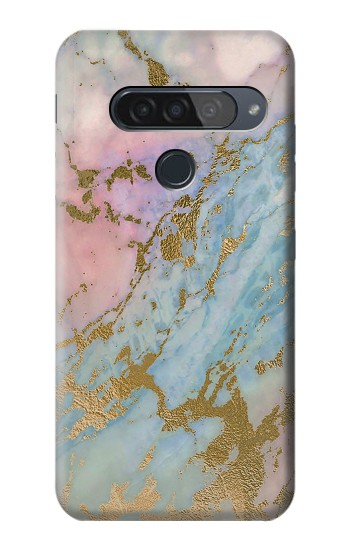 Printed Rose Gold Blue Pastel Marble Graphic Printed LG G8S ThinQ Case
