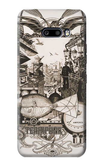 Printed Steampunk Drawing LG G8X ThinQ Case
