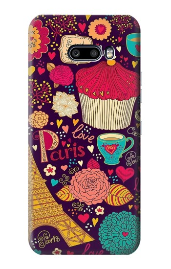 Printed Paris Cartoon Vintage Pattern LG G8X ThinQ Case