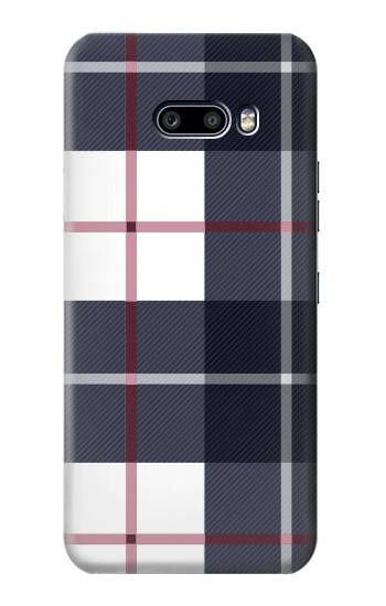 Printed Plaid Fabric Pattern LG G8X ThinQ Case