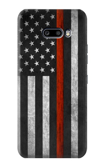 Printed Firefighter Thin Red Line Flag LG G8X ThinQ Case