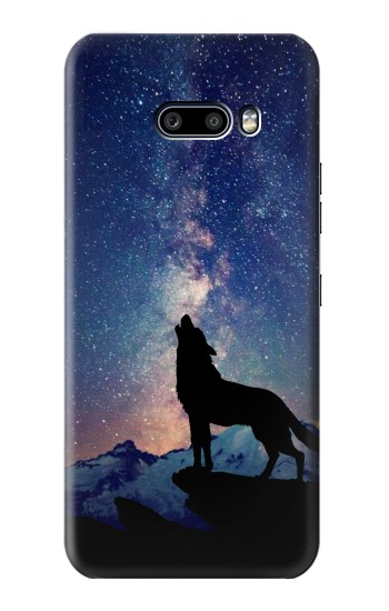 Printed Wolf Howling Million Star LG G8X ThinQ Case