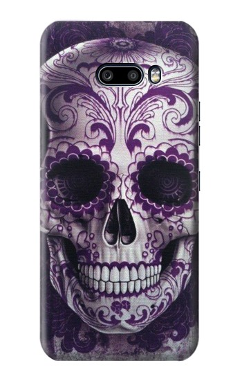 Printed Purple Sugar Skull LG G8X ThinQ Case