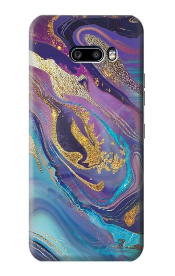 Printed Colorful Abstract Marble Stone LG G8X ThinQ Case