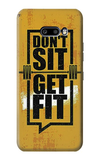 Printed Dont Sit Get Fit LG G8X ThinQ Case
