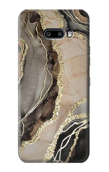 Printed Marble Gold Graphic Printed LG G8X ThinQ Case