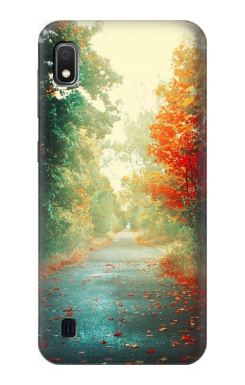 Printed Road Through The Woods Samsung Galaxy A10 Case