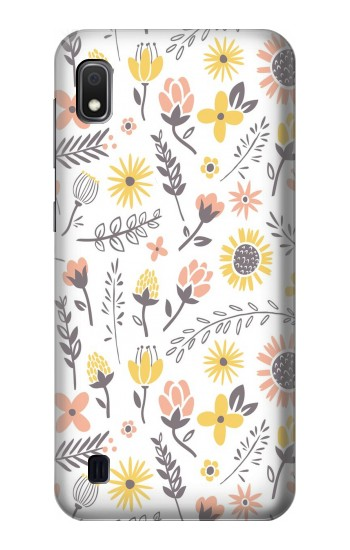 Printed Pastel Flowers Pattern Samsung Galaxy A10 Case