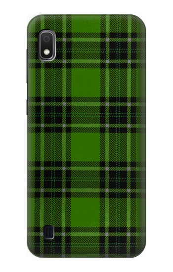 Printed Tartan Green Pattern Samsung Galaxy A10 Case