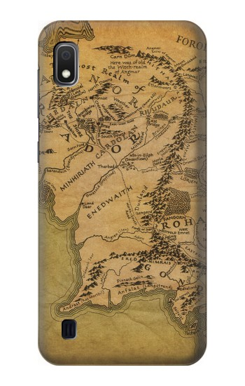 Printed The Lord Of The Rings Middle Earth Map Samsung Galaxy A10 Case