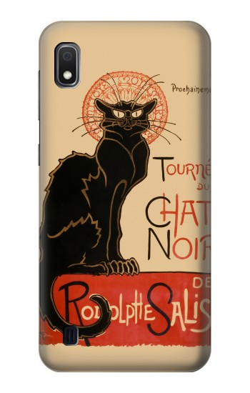Printed Chat Noir The Black Cat Samsung Galaxy A10 Case