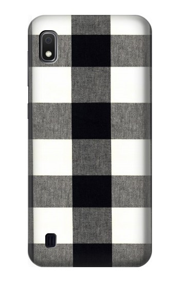 Printed Black and White Buffalo Check Pattern Samsung Galaxy A10 Case