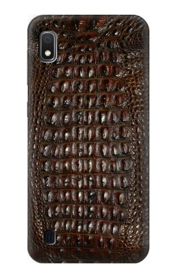 Printed Brown Skin Alligator Graphic Printed Samsung Galaxy A10 Case