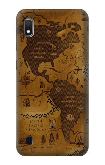 Printed Antique Style Map Samsung Galaxy A10 Case