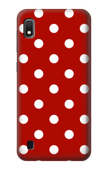 Printed Red Polka Dots Samsung Galaxy A10 Case