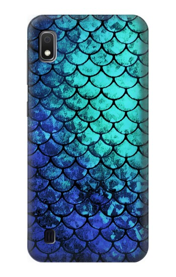Printed Green Mermaid Fish Scale Samsung Galaxy A10 Case
