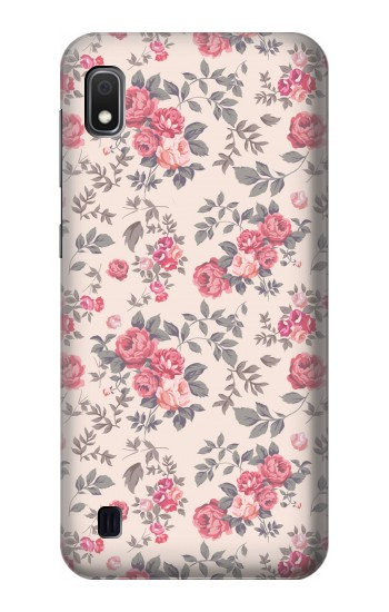 Printed Vintage Rose Pattern Samsung Galaxy A10 Case