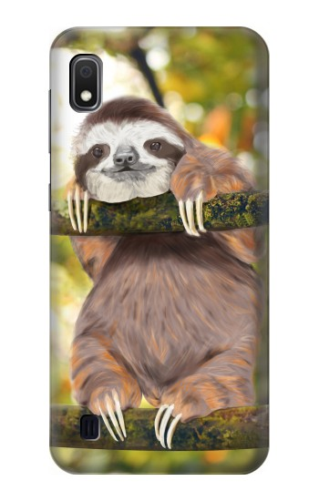 Printed Cute Baby Sloth Paint Samsung Galaxy A10 Case