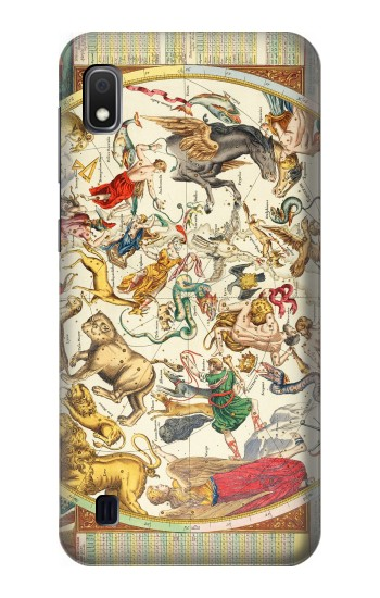 Printed Antique Constellation Map Samsung Galaxy A10 Case