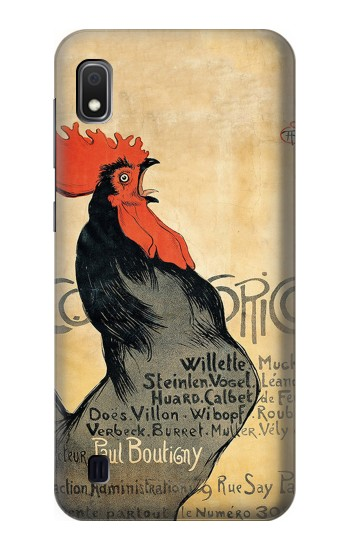 Printed Cocorico Rooster Vintage French Poster Samsung Galaxy A10 Case