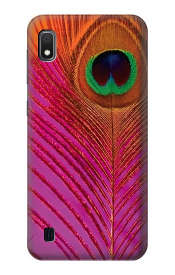 Printed Pink Peacock Feather Samsung Galaxy A10 Case