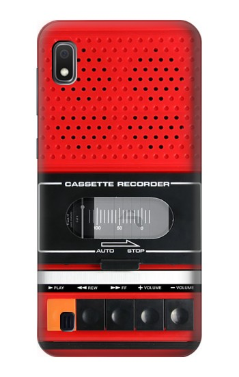 Printed Red Cassette Recorder Graphic Samsung Galaxy A10 Case