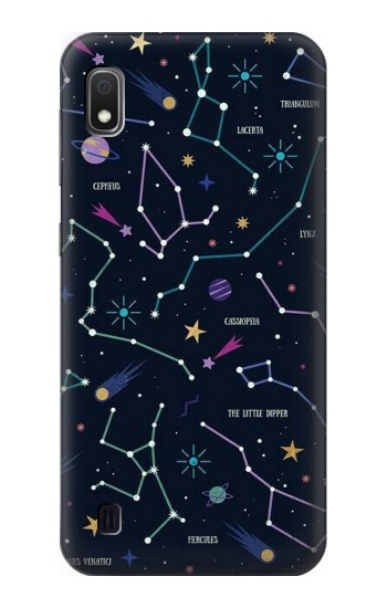 Printed Star Map Zodiac Constellations Samsung Galaxy A10 Case