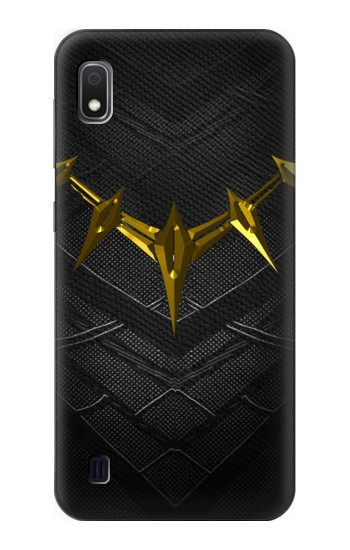 Printed Black Panther Inspired Costume Gold Necklace Samsung Galaxy A10 Case