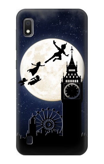 Printed Peter Pan Fly Fullmoon Night Samsung Galaxy A10 Case