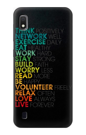 Printed Think Positive Words Quotes Samsung Galaxy A10 Case