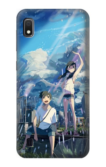 Printed Weathering With You Tenki No Ko Samsung Galaxy A10 Case