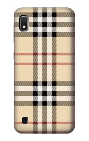 Printed Tartan Plaid Yellow Pattern Samsung Galaxy A10 Case