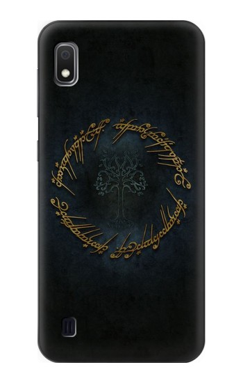 Printed Lord of The Rings Ring Elf Writing Samsung Galaxy A10 Case