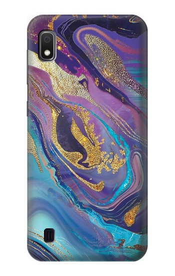 Printed Colorful Abstract Marble Stone Samsung Galaxy A10 Case