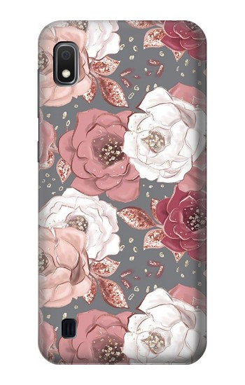 Printed Rose Floral Pattern Samsung Galaxy A10 Case