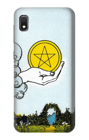 Printed Tarot Card Ace of Pentacles Coins Samsung Galaxy A10 Case