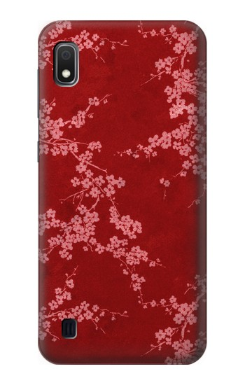 Printed Red Floral Cherry blossom Pattern Samsung Galaxy A10 Case