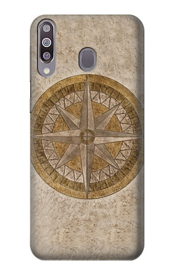 Printed Windrose Circle Stamp Samsung Galaxy A30 Case