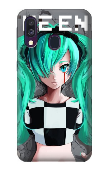 Printed hatsune miku The End Samsung Galaxy A40 Case