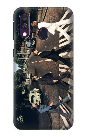 Printed The Beatles Abbey Road Samsung Galaxy A40 Case