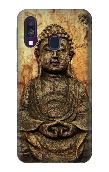 Printed Buddha Rock Carving Samsung Galaxy A40 Case