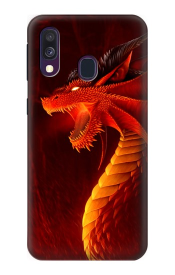 Printed Red Dragon Samsung Galaxy A40 Case