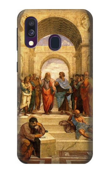 Printed Raphael School of Athens Samsung Galaxy A40 Case