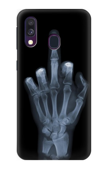 Printed X-ray Hand Middle Finger Samsung Galaxy A40 Case