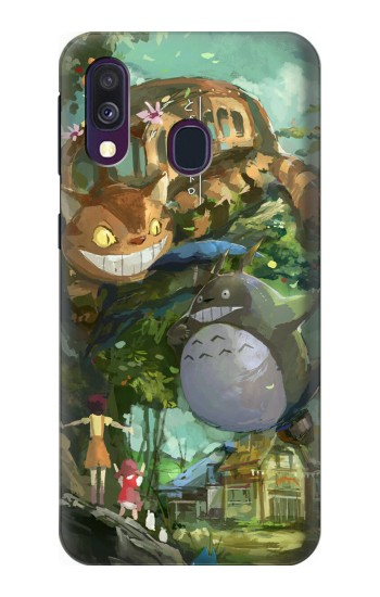 Printed My Neighbor Totoro Cat Bus Samsung Galaxy A40 Case